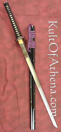 "Deluxe 23/"" Chrome Finish Ninja Katana Accessory Toy Samurai Sword Tachi Dagger"