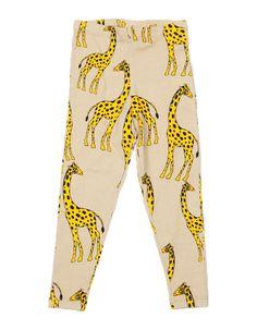 Mini Rodini Giraffe Leggings In Beige | Scandinavian Minimall