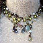 For the Lady of Layering - Semi Prec , hand wired - one of a kind layered necklaces, so many options