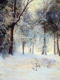Soleil après la tempête de neige, huile sur toile de Walter Launt Palmer (1854-1932, United States)