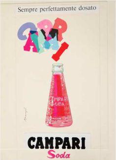 For Your Thirst Campari Soda Franz Marangolo 1950 Vintage Ad Poster Print