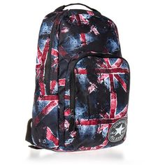 Converse All Stars Union Jack Backpack ($37) ❤ liked on Polyvore featuring bags, backpacks, backpack, daypack bag, knapsack bag, converse bag, uk flag backpack and british flag bag