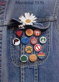 Montreal 1976 Olympics poster - buttons | par ouno design