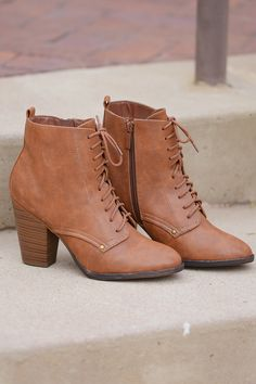 "On A Whim Lace Up Booties - Tan from Closet Candy Boutique Code ""repjennifer""=10% off and FREE shipping!"