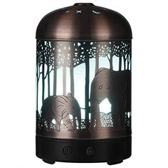 Amazon.com : Essential Oil Diffuser -160ml Cool Mist Humidifier -7 Color LED Night Lamps -Crafts Ornaments All in 1 is the Upgrade Whisper-Quiet Ultrasonic Metal Elephant Humidifiers US 120V : Beauty Essential Oil Diffuser Humidifier, Best Essential Oil Diffuser, Aromatherapy Humidifier, Aroma Essential Oil, Aroma Diffuser, Unique Funny Gifts, Elephant Lamp, Cool Mist Humidifier, Night Lamps