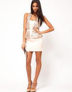 dress white gold studniówka