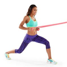 Sculpt Sexy Arms: The Resistance Band Workout~ Lunge and Row Resistance Band Training, Resistance Band Exercises, Resistance Workout, Arm Exercises, Toning Workouts, Fun Workouts, Exercise Moves, Arm Toning, Exercise Bands