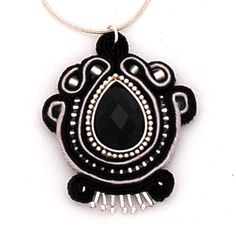 naszyjnik wisior sutasz soutache pendant necklace 1