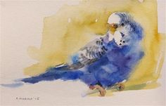 "Daily Paintworks - ""budgie6"" - Original Fine Art for Sale - © Katya Minkina"