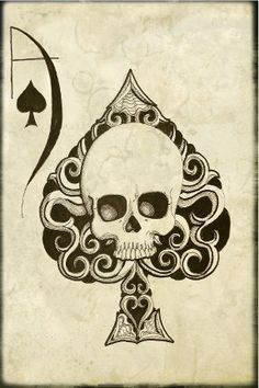 Ace of Spades death card archival print by ShayneoftheDead on Etsy, $4.00