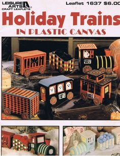 Plastic Canvas Free Patterns With | Holiday Trains Plastic Canvas Needlepoint Craft Pattern Leaflets