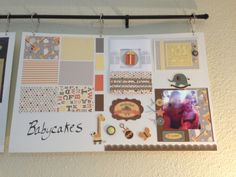 Display board of Babycakes CTMH paper pack samples - shop online at http://cydneyfowlercreations.ctmh.com