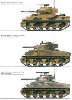 Sherman variants 1944-45