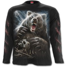 Bear Claws Long Sleeve Tee https://www.highvoltageclothing.com  #loveit #musthave #clothing #biker