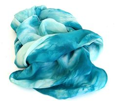 SALE++...+++teal+and+turquoise+++...+++large+hand+dyed+by+wearsilk