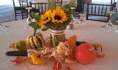 Outdoor fall wedding centerpieces  #weddings #fall decor #flowers