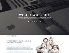 Perfect Design - Onepage Portfolio Bootstrap Free Template with unlimited colors, and is professional on web trends. It has awesome jQuery added for great animations Bootstrap Template, Html Templates, Form Design, Coding, Contact Form, Trends, Screens, Colors, Desktop