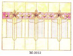 """Leaded glass designs published in millwork catalog in1921 by the Morgan Woodwork Organization and called """"Building with Assurance."""""""
