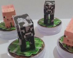 Minecraft, Barware, Coasters, 3d, Stationery Shop, Creativity, Stuffing, Party, Tin Cans
