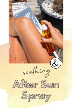Soothe your skin after the being in the sun with this soothing skin spray. It's important to rehydrate your skin after being out in the sun. This after sun spray is made with simple, natural ingredients. Health Benefits, Health Tips, Health And Wellness, Homemade Products, Homemade Skin Care, All Natural Skin Care, Natural Health, After Sun Spray, Beauty Recipe