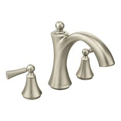 """MOEN Banbury 86924SRN Tub Only Faucet Brushed Nickel 10/"""" Centers Installation"""