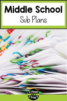Use these middle school sub plans to be prepared in case of an emergency. Sub plans are a requirement in some districts. This article contains a list of teaching resources teachers can use from 2 Peas and a Dog.