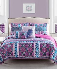 Look what I found on #zulily! Multicolored Madrid Five-Piece Quilt Set by Victoria Classics #zulilyfinds