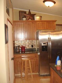 25 Great Mobile Home Room Ideas - Mobile and Manufactured Home Living Mobile Home Redo, Mobile Home Repair, Mobile Home Makeovers, Mobile Home Living, Mobile Home Decorating, Home And Living, Decorating Tips, Living Room, Kitchen Makeovers