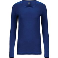 Tasc Women's 365 Long Sleeve Crew Tee ($40) ❤ liked on Polyvore featuring tops, t-shirts, deep blue sea, long sleeve tops, longsleeve t shirts, long sleeve crew neck t shirts, dark blue tops and long sleeve tee