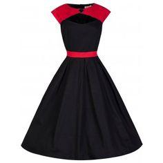 Lottie Red Black Swing Dress | Vintage Inspired Fashion - Lindy Bop