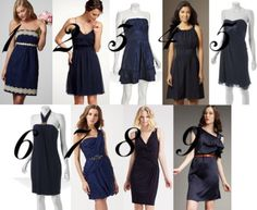 Different bridesmaids dress idea