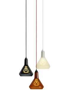 We're happy to announce the launch of our first lamp shade – the Plumen Drop Top Lamp Shade (A). The Drop Top is a mouth-blown glass shade that directs the light onto the surface below, while still showing the sculptural form of the Plumen bulb through the tinted, transparent material. The range comes in three colours – amber, black or white. Pre-order here http://plumen.com/