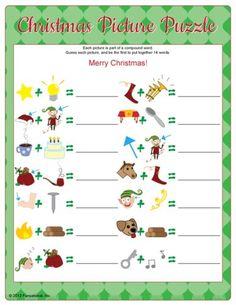 Fun Christmas Printable Games