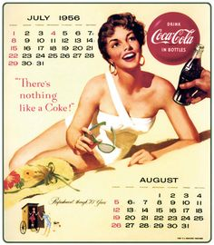 Coca-Cola calendar girl