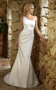 Beautiful One shoulder gown Stella York Wedding Gowns - Style 5676