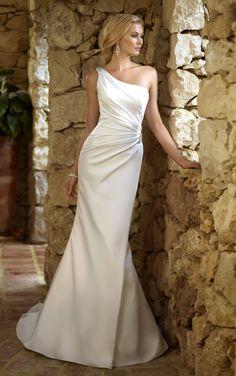 Beautiful One shoulder gown Stella York Wedding Gowns - Style 5676 wedding dressses, idea, bridal gown, weddings, dresses, gowns, ella bridal, one shoulder, stella york