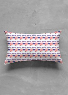 View Accent Pillow - Matte Oblong - United States of America Accent Pillows, Bed Pillows, Vida Design, Original Art, United States, America, Unique, Pillows, Usa