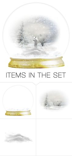 """""""White wolves"""" by melody-renfro-goldsberry ❤ liked on Polyvore featuring art"""