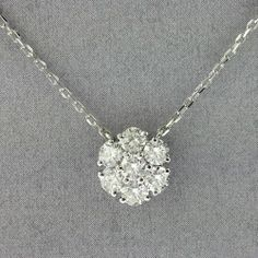 1.51tcw Diamonds By The Yard With Flower Pendant in 14K White Gold #diamonds #luxury #diamondsbyal #bling #famous #fashion #flashyjewelry #ifyouloveher #valentinesday #gold