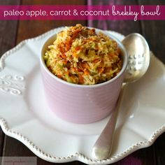 paleo apple, carrot & coconut brekky bowl