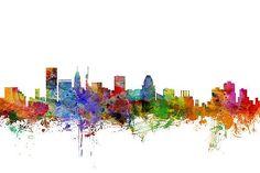 Michael Tompsett - Baltimore Maryland Skyline