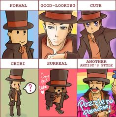 I'm questiong the saneness of our fandom xD<<<Same here. They're probably scarred from the feels. XD Can we reach AoT fandom's insanity! Layton Brothers Mystery Room, Brain Activities, Memes, Video Games, Phoenix Wright, Fandoms, Lol, Fan Art, Bishounen