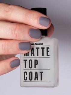 Matte Top Coat Nail Polish. #AmericanApparel