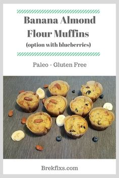 Banana Almond Flour Muffins Recipe | http://www.brekfixs.com/2017/04/25/banana-almond-flour-muffins-recipe/
