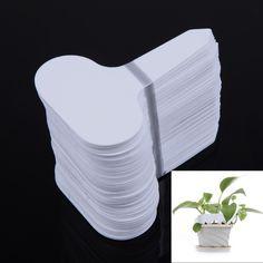 100pcs/set T-type Plastic Nursery Garden Plant Label Flower Thick Tag Mark White White for Garden Accessories