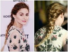 Olivia Palermo french braid tutorial