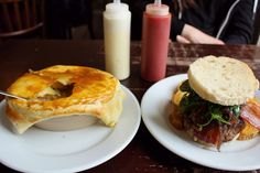 I'd highly recommend ordering the chicken mushroom pie or burger at The Dogs in Edinburgh. @This is Edinburgh @The City of Edinburgh Council