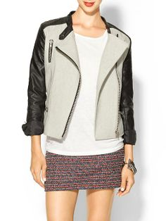 Piperlime   Contrast Vegan Leather Moto