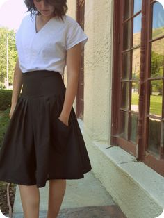 skirt with pockets and pinstripes...lovely