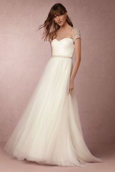 BHLDN Reed Gown in  Bride Wedding Dresses at BHLDN